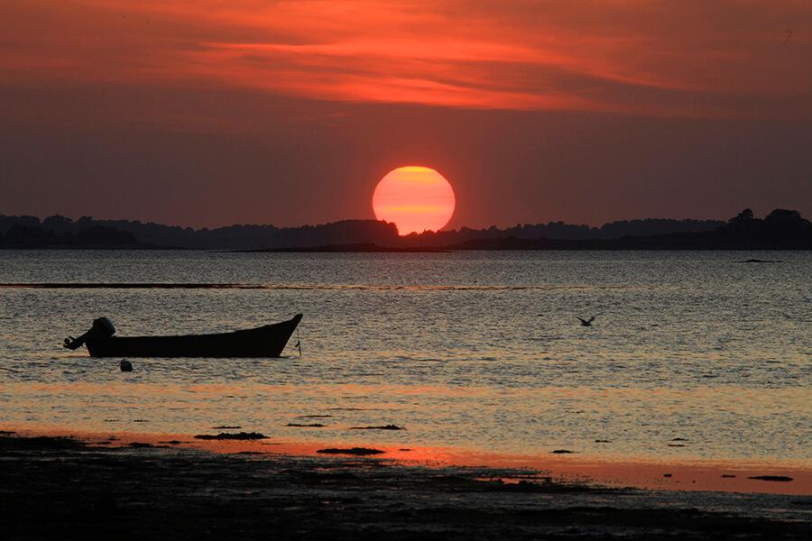 Coucher de soleil sur l'océan