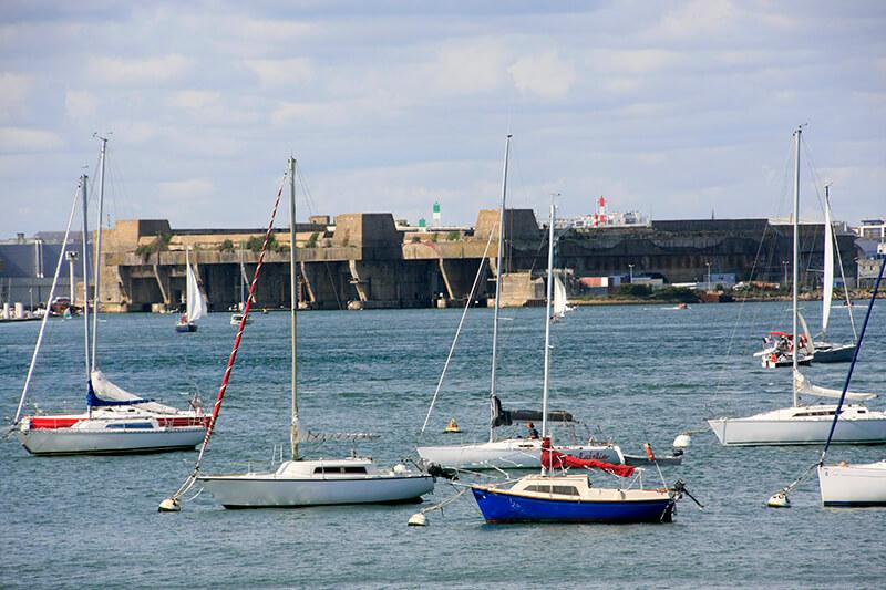 La base des sous marins de Lorient